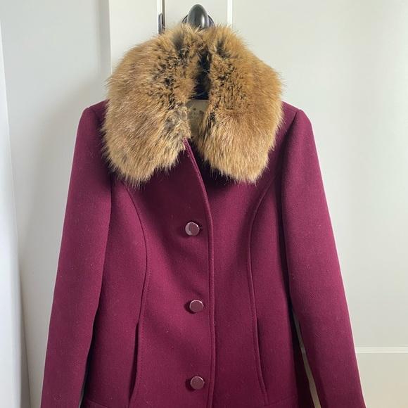 Kate Spade New York Faux Fur Collared Jacket